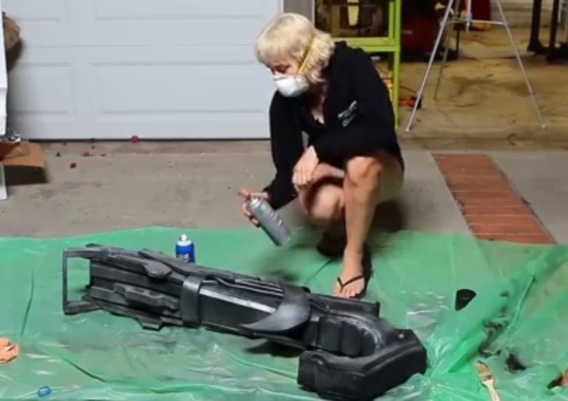 How to craft a realistic rocket raccoon costume for halloween making rocket raccoons gun solutioingenieria Gallery