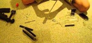 Make a blow gun out of a broken airsoft gun