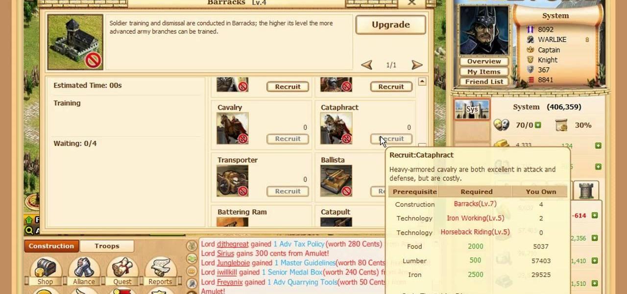 How To Play Evony Combat Unit Cataphract Web Games Wonderhowto