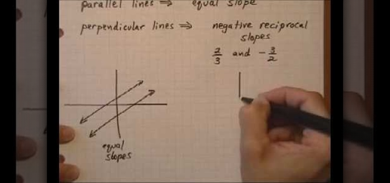 how to determine if lines are parallel or perpendicular math