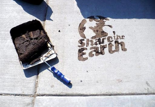 DIY Eco-Friendly Mud Graffiti