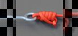 Tie a uni fishing knot with a knot tying animation