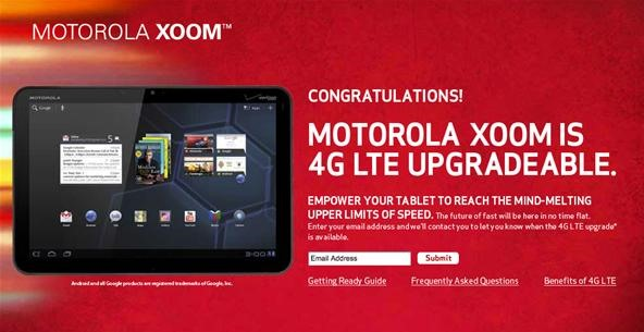 How to Upgrade Your Motorola XOOM 3G to Verizon's 4G LTE