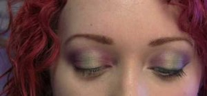 Create a wearable purple forest fairy eye look