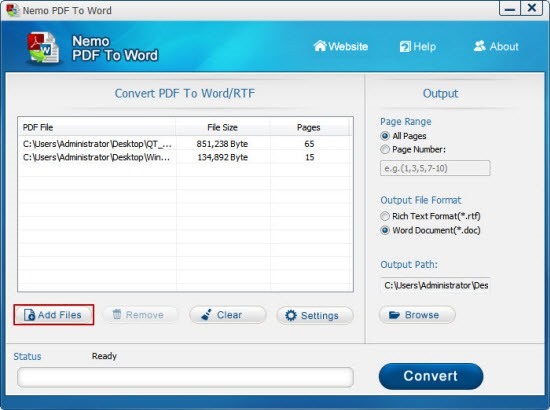 How to Convert PDF to Word by Using Free Nemo Software