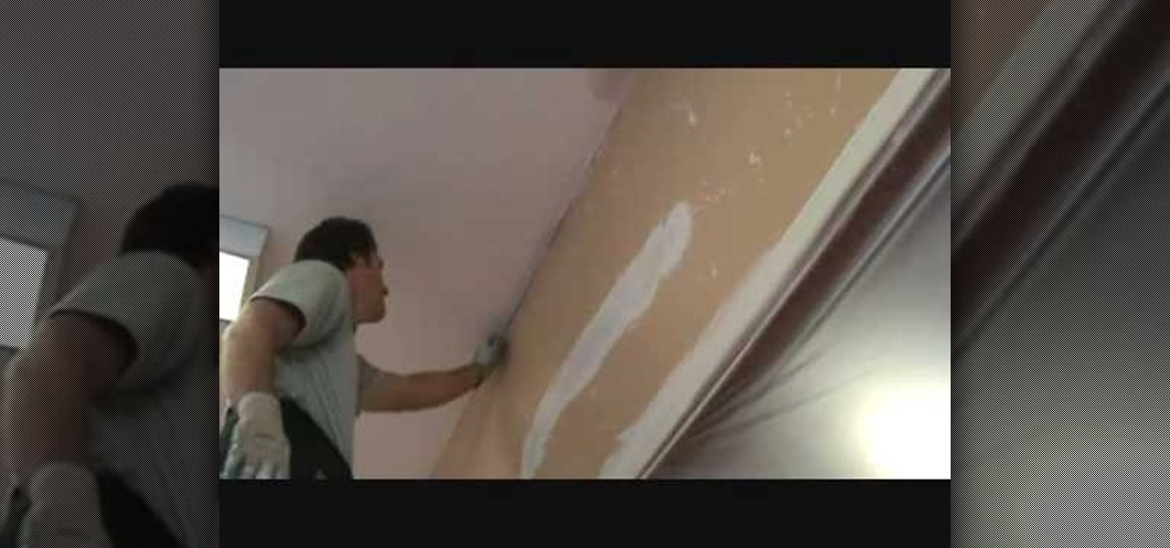 How To Install An Inside Corner Paper Ceiling Patch Construction Repair Wonderhowto