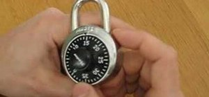 Open combo locks by turning the the opposite direction using different numbers