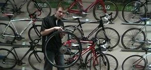 Change a road bicycle tire & tube