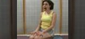 Relax using the mom's yogic breathing exercise