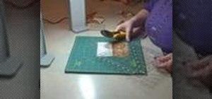 Sew quilting squares