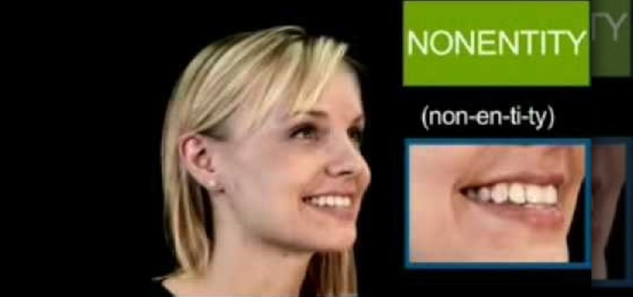 """How To Pronounce The English Word """"nonentity"""" « English"""
