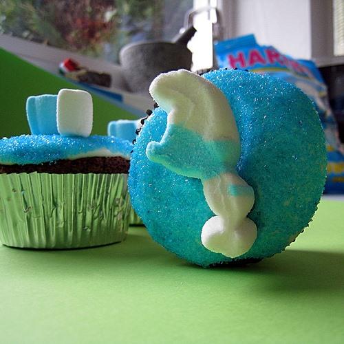 RECIPE: Blue Smurf Cupcakes