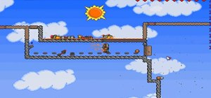 Use a lava trap to kill the goblin army in Terraria