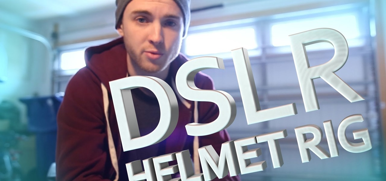 Build a DSLR Helmet Rig