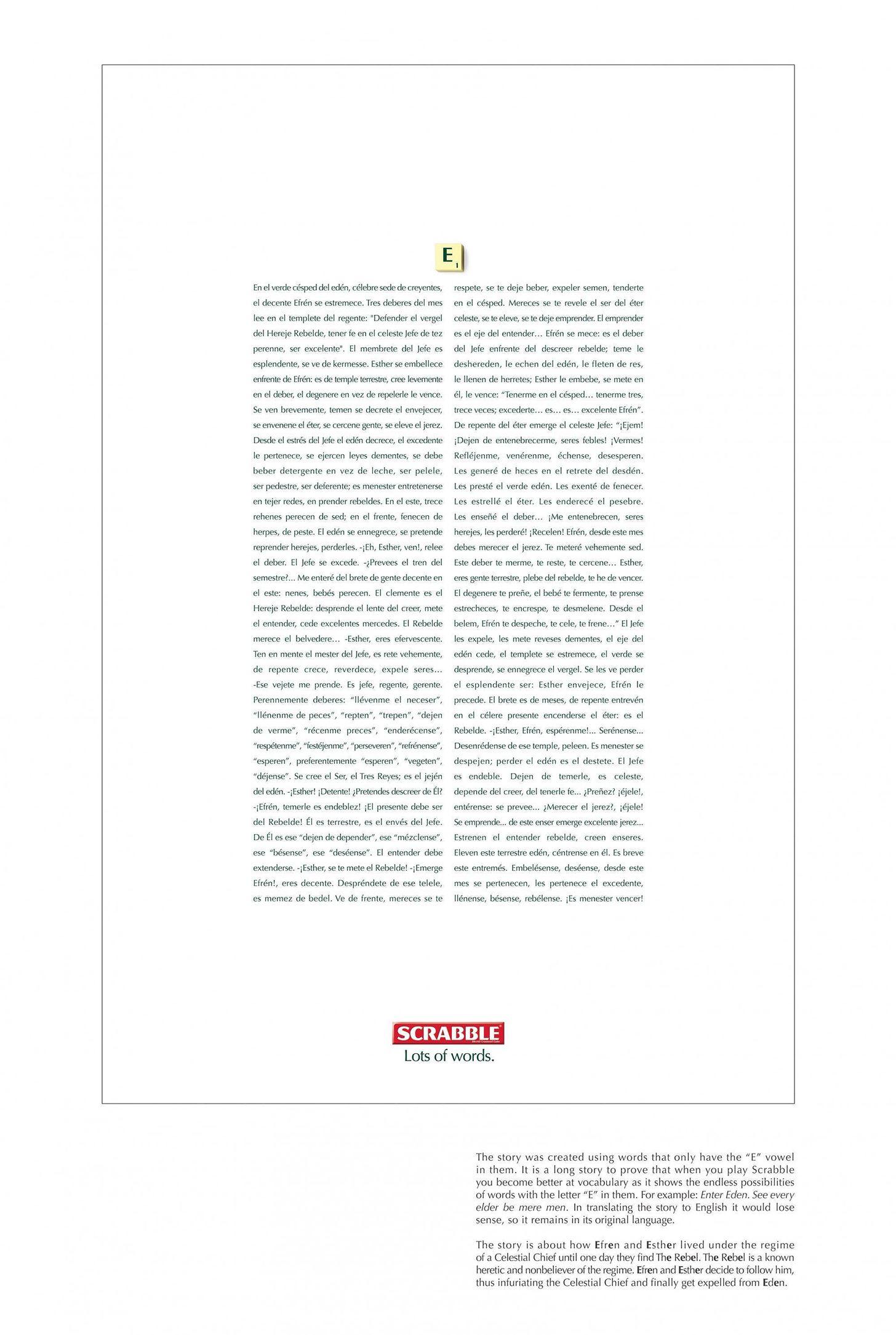 Ogilvy & Mather's Mattel SCRABBLE Prints
