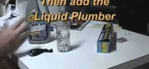 Make hydrogen gas with foil and Liquid Plumr