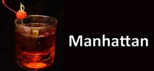 Make a Manhattan cocktail drink