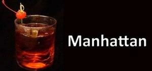 Make a Manhattan cocktail drink