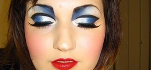 Create a theatrical nautical makeup look