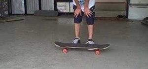 Do a half pressure flip half late flip on a skateboard