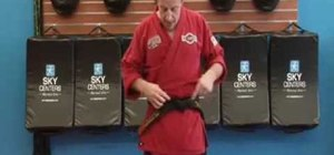 Tie your karate belt efficiently and keep it tight