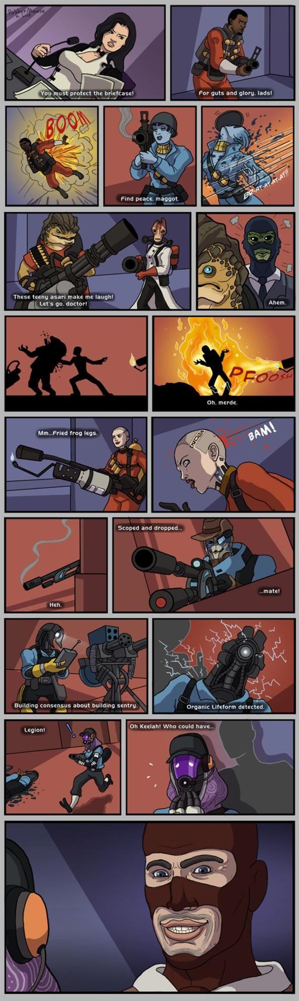 Mass Effect Team Fortress mash up