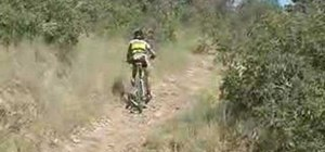 Ride a mountain bike uphill