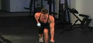 Do alternate front lunge holds with quick dumbbell row