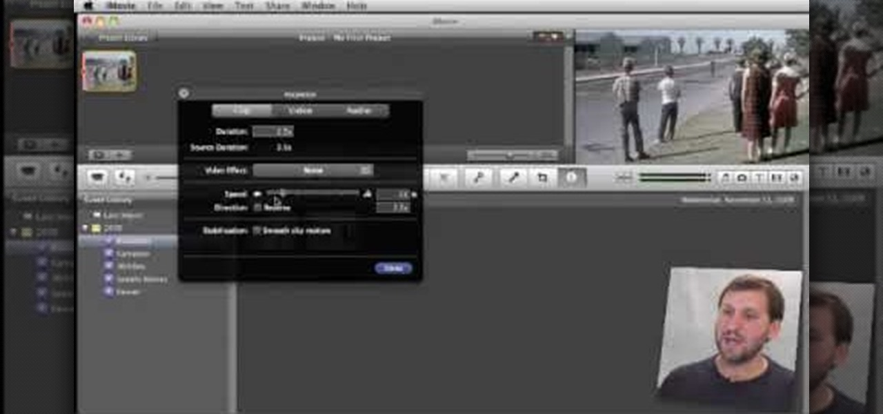 How to Speed up, slow down in reverse in iMovie 09 « iMovie