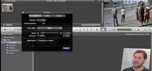 Speed up, slow down in reverse in iMovie 09