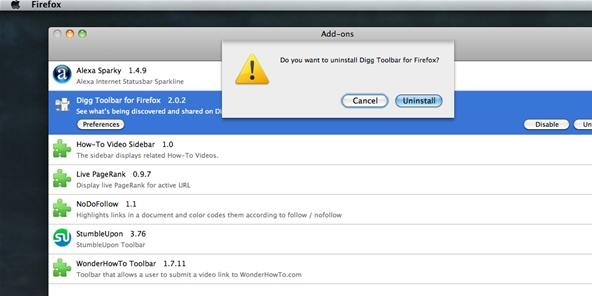 How to Disable & Uninstall Mozilla Firefox Add-ons (Plug-ins, Extensions & Themes)