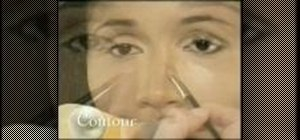 Contour your nose with make up for darker skin tones