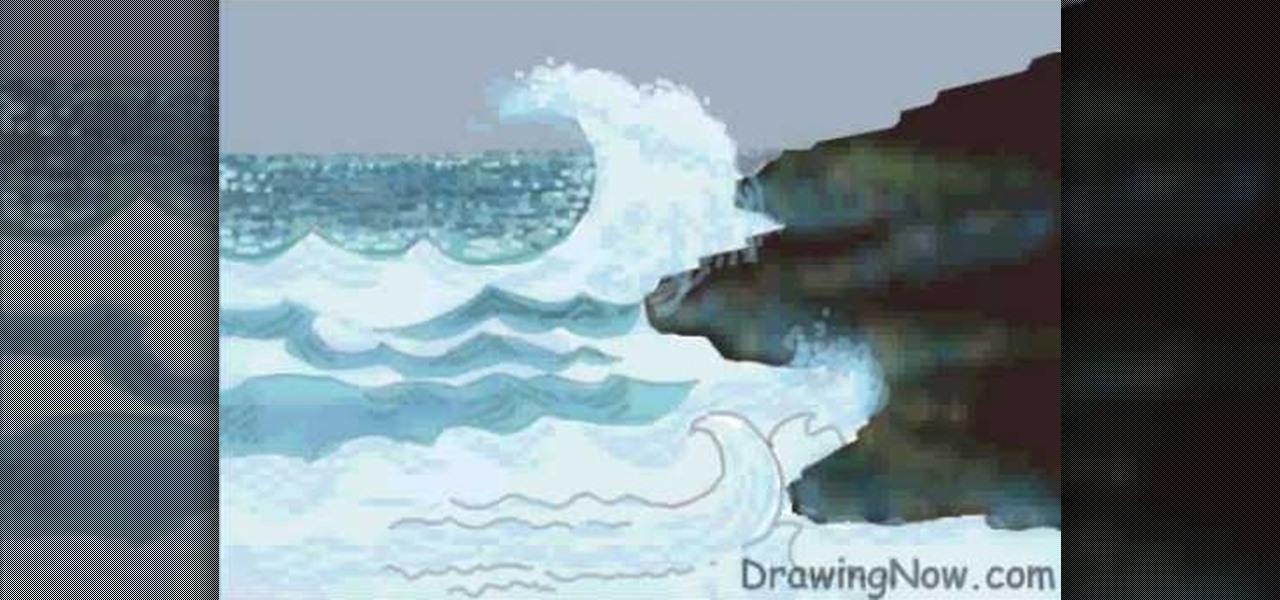 How to draw ocean waves drawing illustration wonderhowto ccuart Gallery