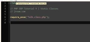 Use Static Classes in PHP OOP programming