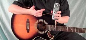 Tune your acoustic guitar using a U.S. phone