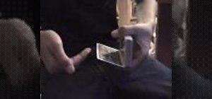 Perform the Hinge Card Change magic trick