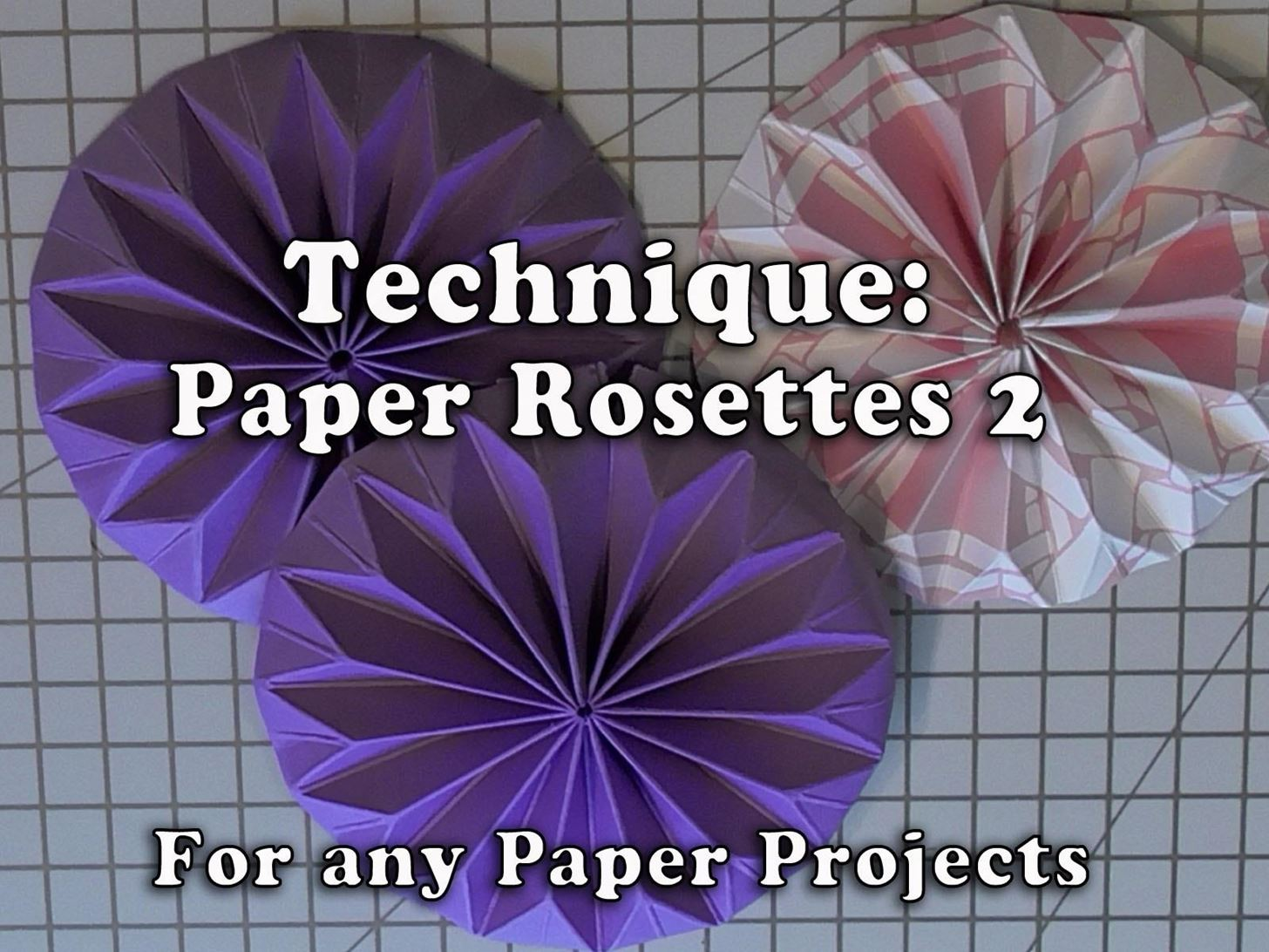 How to Make Paper Shaped Rosettes