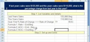 Solve rate-of-change business math problems in Excel
