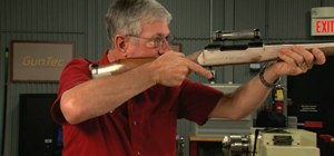 Shape the comb and cheekpiece on a hunting rifle
