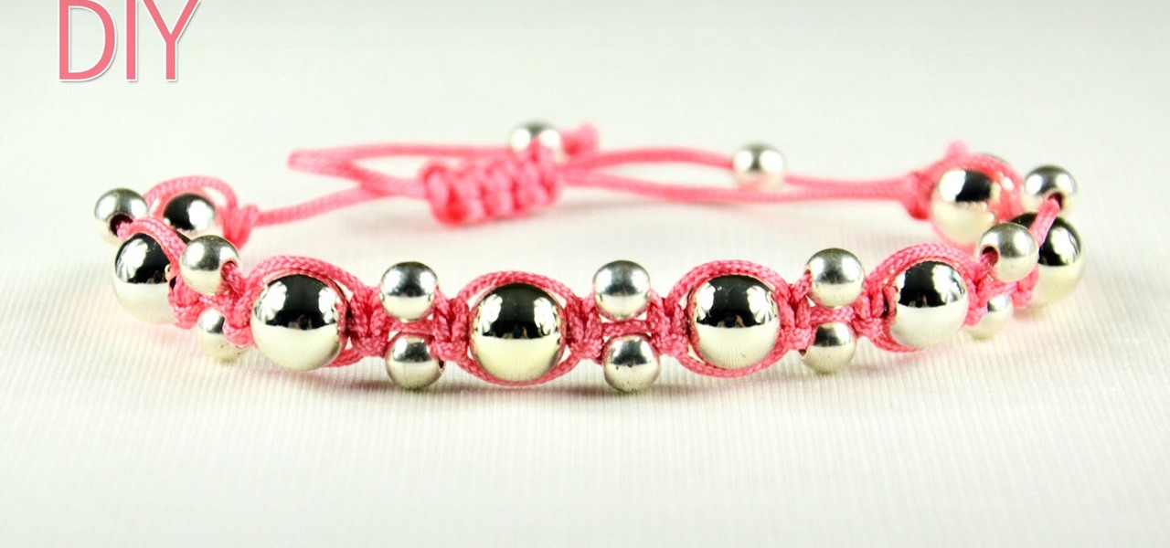 Alternating Shamballa Bracelet - Easy Tutorial