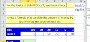 Use SUMPRODUCT for deposit calculations in Excel