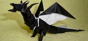 Fold a very advanced origami fiery dragon