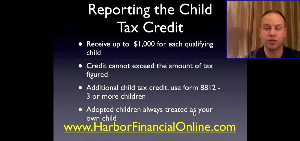 How To Fill Out The Child Tax Credit Worksheet Budgets Tax