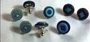Make post earrings out of cute vintage buttons