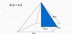Calculate the height and volume of a pyramid