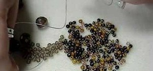 Make a multilayered beaded memory wire bracelet