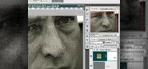 Create a metallic black & white portrait in Photoshop