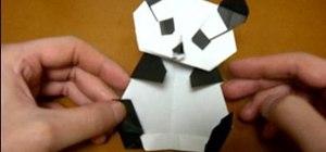 Origami a panda body