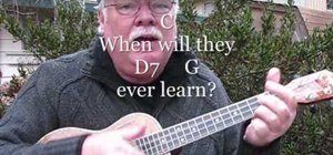 "Play ""Where Have All the Flowers Gone?"" by Pete Seeger on the ukulele"