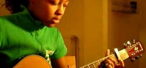 """Play """"I'm with you"""" by Avril Lavigne on the guitar"""